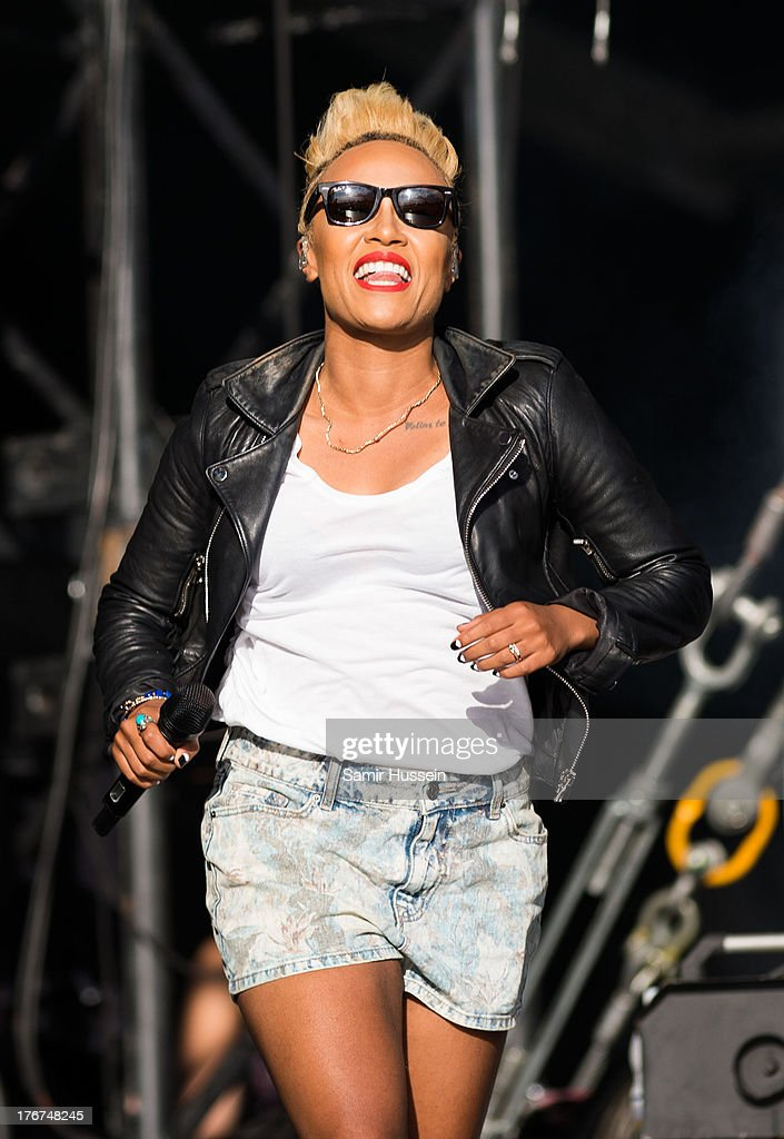 Emeli Sande performs live on the Virgin Media Stage on day 2 of V Festival at Hylands Park on August 18, 2013 in Chelmsford, England.