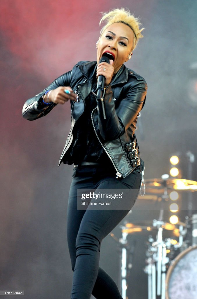 Emeli Sande performs on day 1 of the V Festival at Weston Park on August 17 2013 in Stafford England