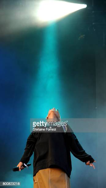 Emeli Sande performs on day 4 of the Glastonbury Festival 2017 at Worthy Farm Pilton on June 25 2017 in Glastonbury England