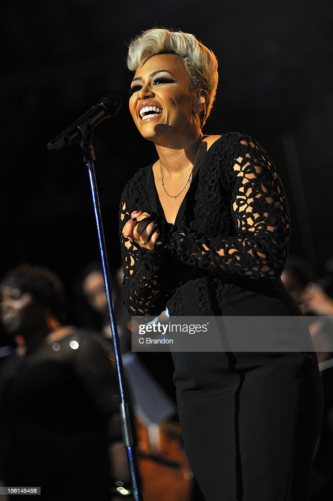 Emeli Sande performs on stage at Royal Albert Hall on November 11, 2012 in London, United Kingdom.