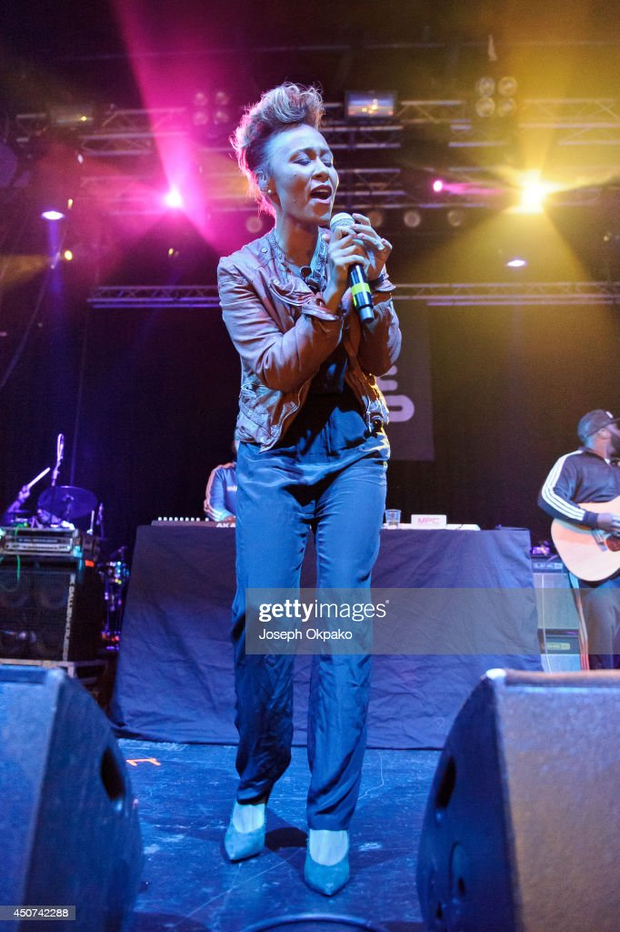 Emeli Sande performs on stage for the 10th Birthday of ILUVLIVE at Electric Brixton on June 16 2014 in London United Kingdom