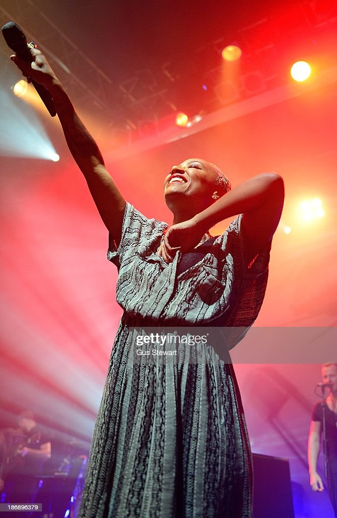 Emeli Sande performs on stage for Virgin Records 40th Anniversary Live Shows at KOKO on November 4 2013 in London United Kingdom