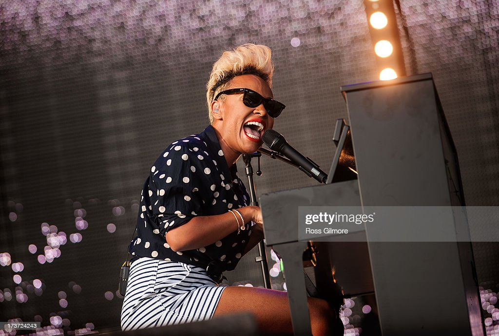 Emeli Sande performs on stage on Day 1 of T In The Park 2013 at Balado on July 12 2013 in Kinross Scotland