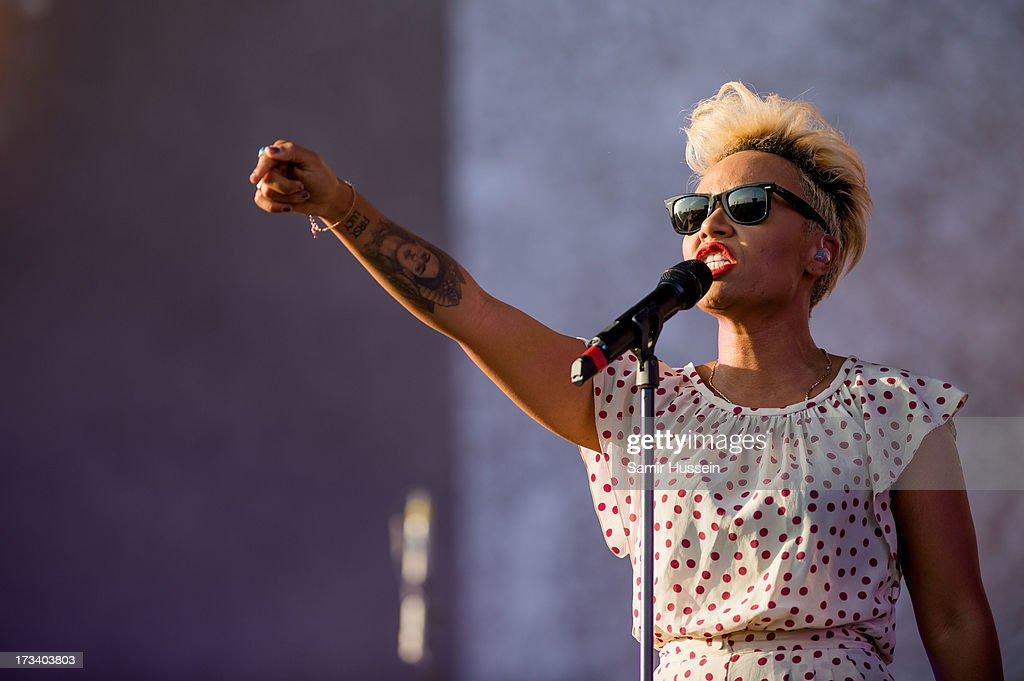 Emeli Sande performs on the main stage on day 2 of the Yahoo! Wireless Festival at Queen Elizabeth Olympic Park on July 13, 2013 in London, England.