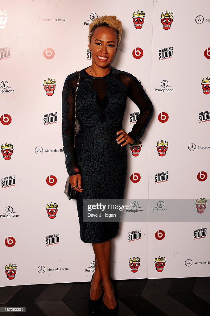 Emeli Sande poses during the Beats by Dre present Tinie Tempah's album launch party at DSTRKT on November 7 2013 in London England Demonstration...