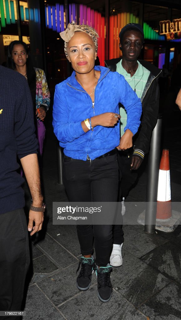 Emeli Sande sighting at INK Bar launch Leicester Square on September 4, 2013 in London, England.
