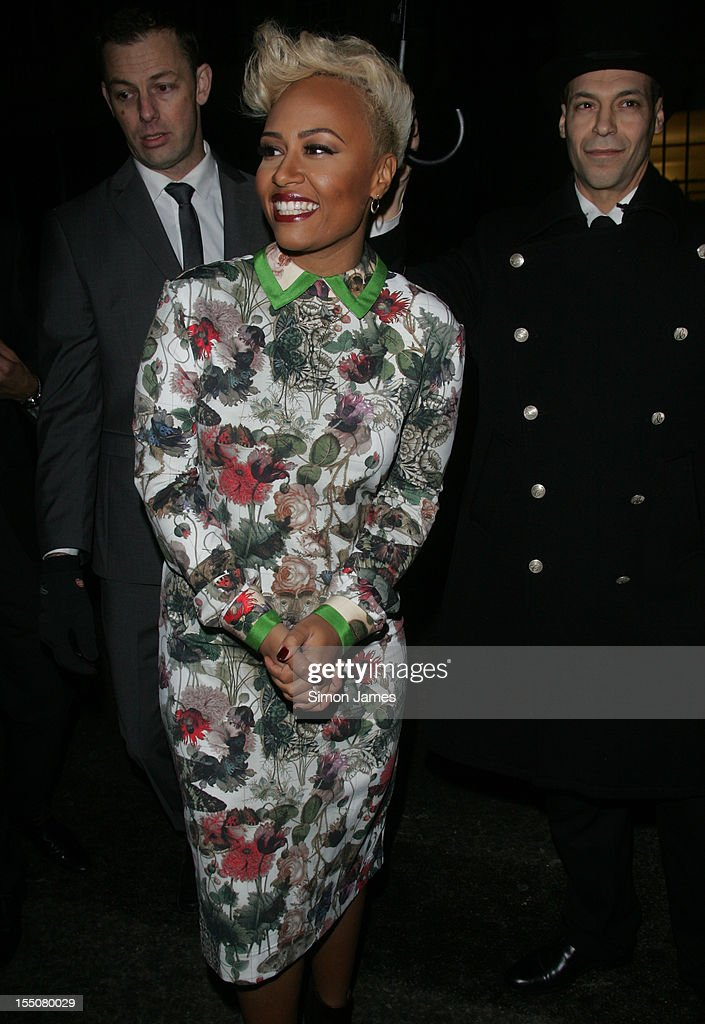Emeli Sande sighting on October 31, 2012 in London, England.