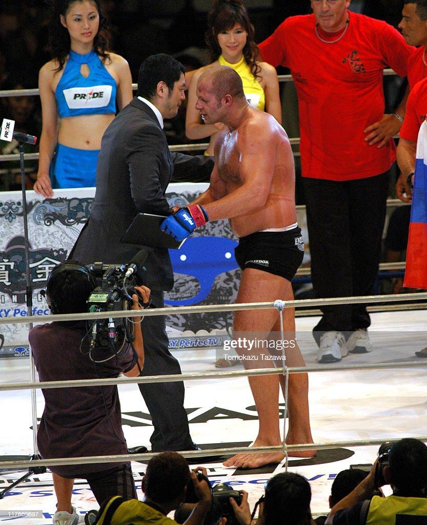 Emelianenko Fedor, the Winner of the PRIDE Heavy Weight Title Match