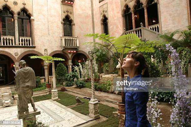 Emelie Gavalt from of Cambridge takes in the surroundings of the garden courtyard of the Isabella Stewart Gardner Museum in Boston