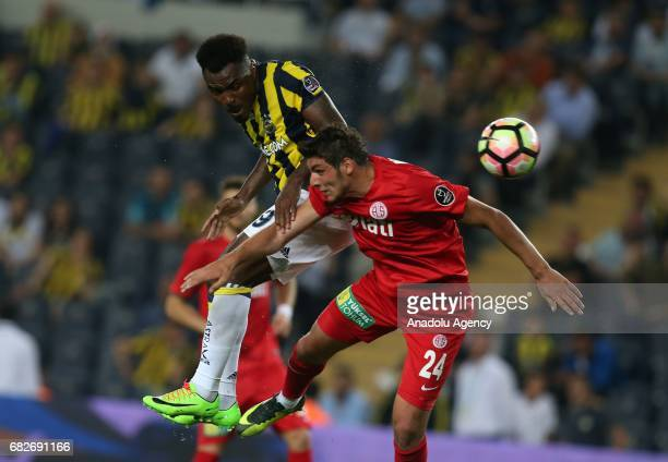 Emenike of Fenerbahce reacts during the Turkish Spor Toto Super Lig soccer match between Fenerbahce and Antalyaspor at the Ulker Stadium in Istanbul...