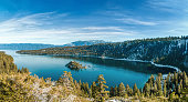 Emerald Bay is a state park on Lake Tahoe in California.