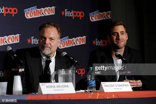 CON 2016 'Emerald City' Panel Pictured Vincent D'Onofrio Oliver JacksonCohen on Saturday October 8 2016 from the Javits Center in New York NY