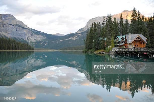 Emerald Lake with lodge , Yoho National Park,British Columbia,Canada