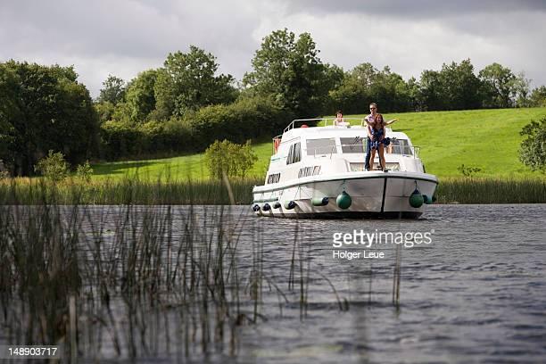 Emerald Star Glen Star houseboat on River Erne, near Belturbet.