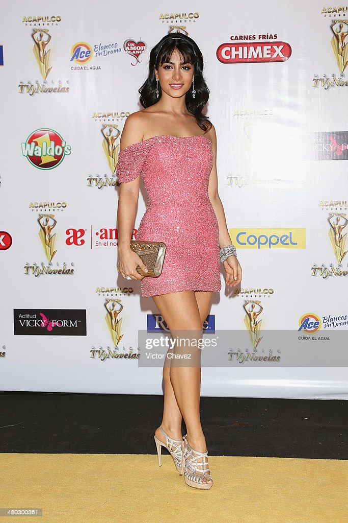 <a gi-track='captionPersonalityLinkClicked' href=/galleries/search?phrase=Emeraude+Toubia&family=editorial&specificpeople=5443310 ng-click='$event.stopPropagation()'>Emeraude Toubia</a> attends the Premios Tv y Novelas 2014 at Televisa Santa Fe on March 23, 2014 in Mexico City, Mexico.