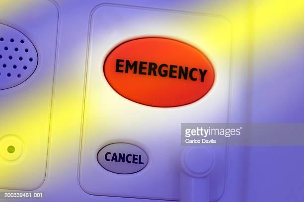 Emergency button, close-up (Digital Enhancement)