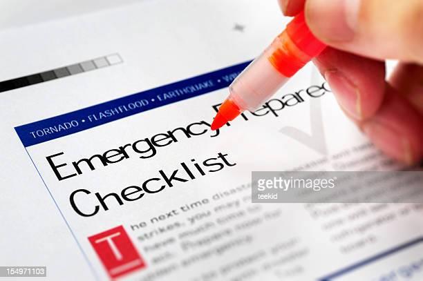 Liste des interventions d'urgence