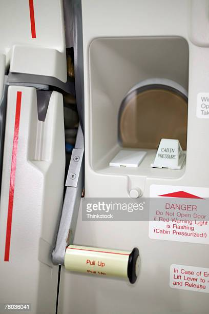 Emergency door on airplane