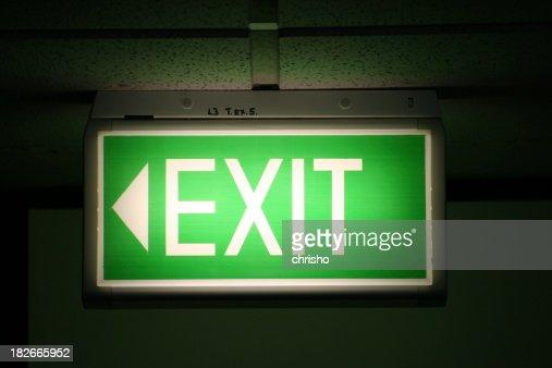 exit sign stock fotos und bilder getty images. Black Bedroom Furniture Sets. Home Design Ideas