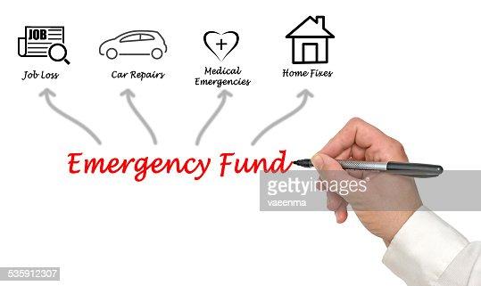 Fundo de Emergência : Foto de stock