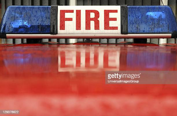 Emergency lights of fire engine