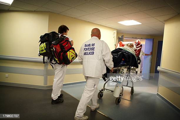 Emergency Medical Service team of Pontoise hospital France Intervention for a man in respiratory distress syndrome