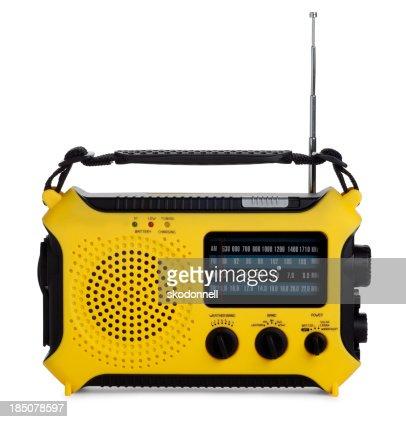 Emergency Radio Isolated on White