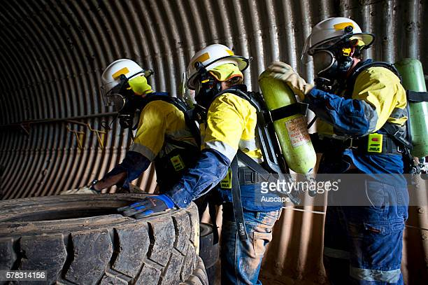 Emergency response training in confined space search and rescue requiring breathing apparatus an essential element of mining industry safety...