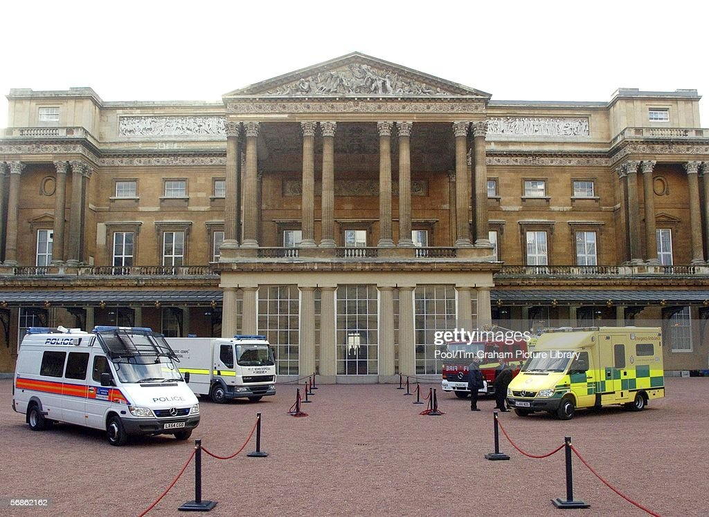 Emergency response vehicles gather in the quadrangle at Buckingham Palace on February 15, 2006 in London, England. Emergency response vehicles were gathered at the palace for an Emergency Services & Disaster Response Reception.