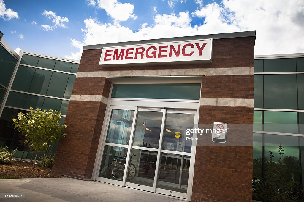 Emergency room entrance at the hospital