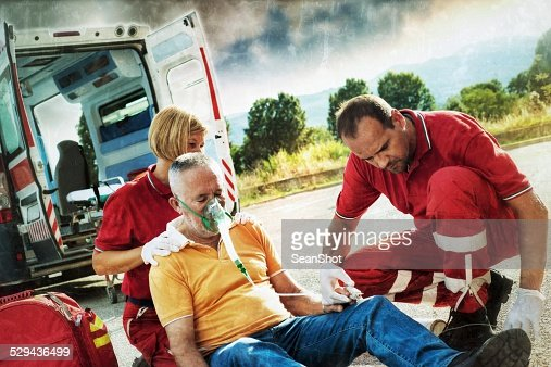 infarcted rescuing un servicio de emergencia