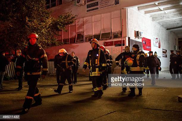Emergency services gather near a club in Bucharest October 31 after an explosion More than 20 people died and dozens were injured in an explosion...