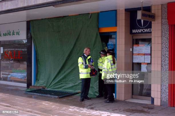 Emergency services outside Greggs bakery Stevenage A man has died following an explosion in a bakery police said today The man was pronounced dead at...