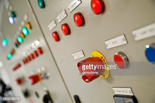 Emergency STOP Button : Stock Photo