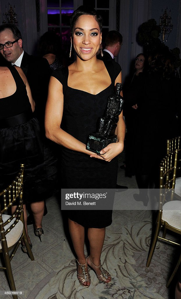 Emerging Talent winner Cush Jumbo attends an after party following the 59th London Evening Standard Theatre Awards at The Savoy Hotel on November 17, 2013 in London, England.