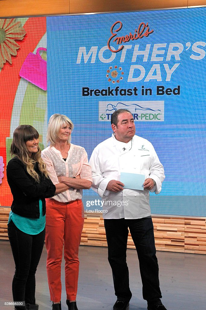 AMERICA - Emeril Lagasse hosts a Mother's Day breakfast in bed for one special mother on 'Good Morning America,' 5/6/16, airing on the ABC Television Network. SHEREE