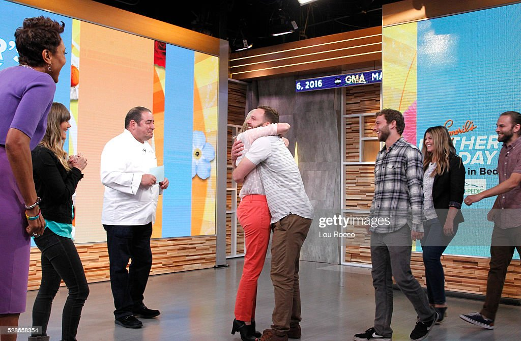 AMERICA - Emeril Lagasse hosts a Mother's Day breakfast in bed for one special mother on 'Good Morning America,' 5/6/16, airing on the ABC Television Network. ROBIN