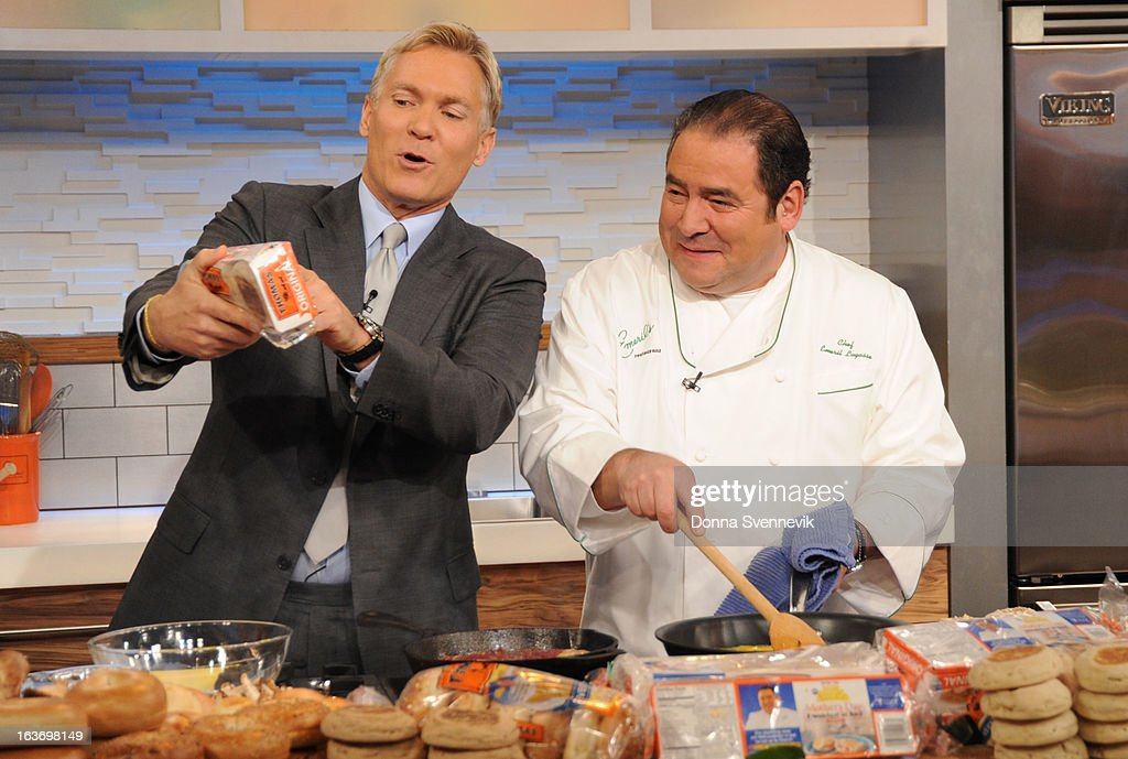 AMERICA - Emeril Lagasse prepares recipes on 'Good Morning America,' 3/14/13, airing on the ABC Television Network. (Photo by Donna Svennevik/ABC via Getty Images) SAM