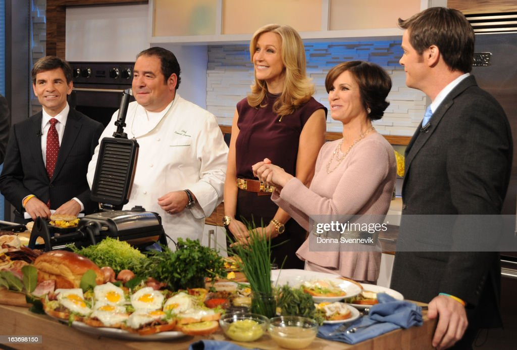 AMERICA - Emeril Lagasse prepares recipes on 'Good Morning America,' 3/14/13, airing on the ABC Television Network. (Photo by Donna Svennevik/ABC via Getty Images) EMERIL