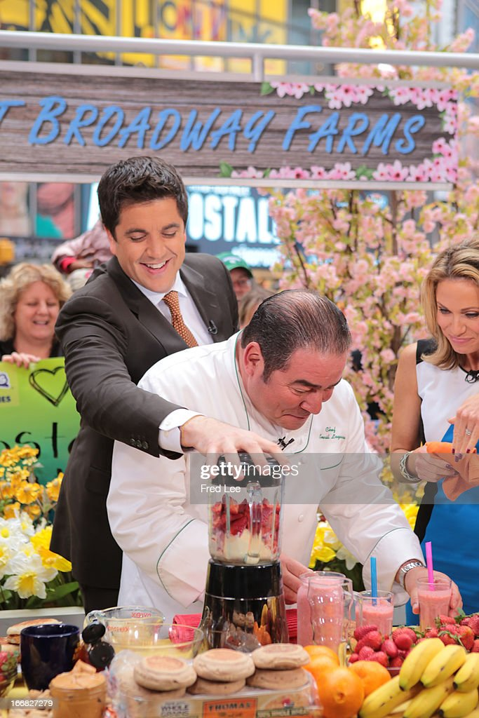 AMERICA - Emeril Lagasse prepares recipes on 'Good Morning America,' 4/17/13, airing on the ABC Television Network on the ABC Television Network. JOSH