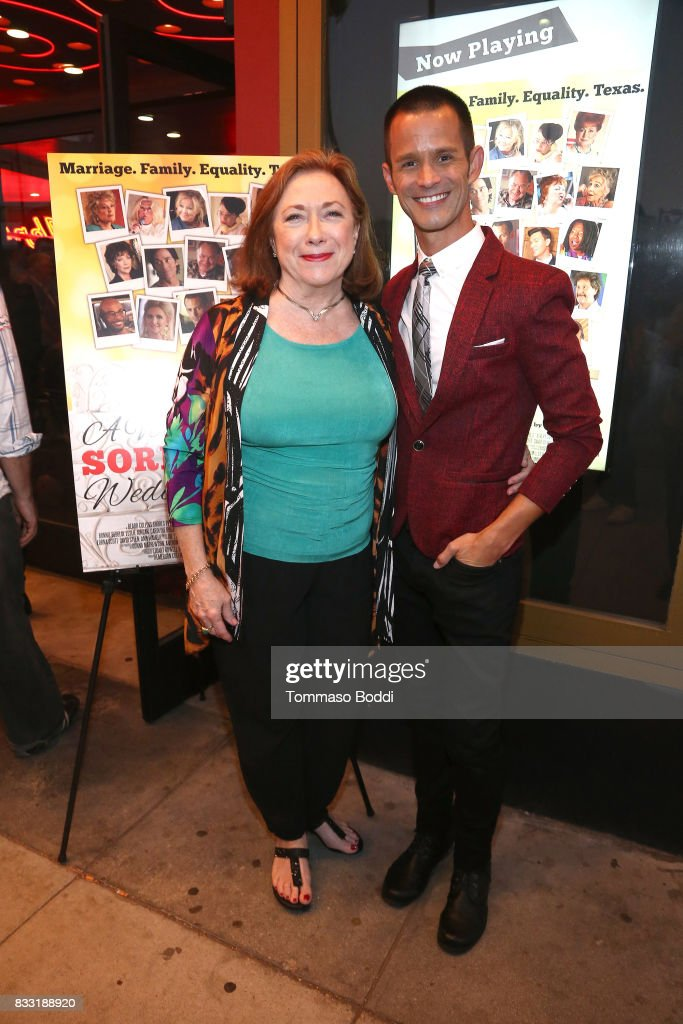 Emerson Collins and Sharon Garrison attend the Premiere Of Beard Collins Shores Productions' 'A Very Sordid Wedding' on August 16, 2017 in Beverly Hills, California.