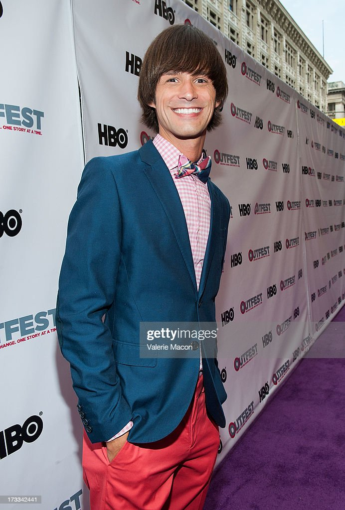 Emerson Collins attends the 2013 Outfest Opening Night Gala Of 'C.O.G.' - Red Carpet at Orpheum Theatre on July 11, 2013 in Los Angeles, California.