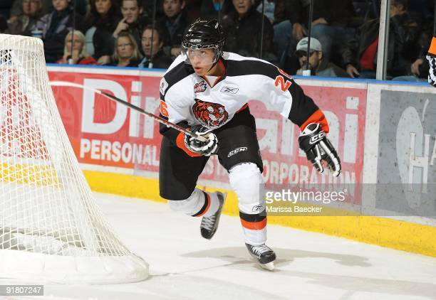 Emerson Etem of the Medicine Hat Tigers skates against the Kelowna Rockets at Prospera Place on October 7 2009 in Kelowna Canada