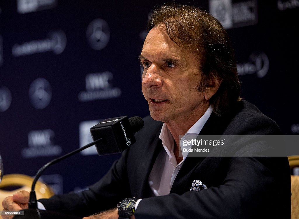 Emerson Fittipaldi during a press conference to announce the Nominees for the 2012 Laureus World Sports Awards at Windsor Atlantica Hotel on December 13, 2012 in Rio De Janeiro, Brazil. The Laureus World Sports Awards is recognised as the premier honours event in the international sporting calendar as stars of the sporting world come together to salute the finest sportsmen and sportswomen of the year.