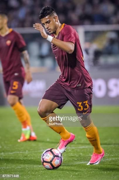 Emerson Palmieri during the Italian Serie A football match Pescara vs Roma on April 24 in Pescara Italy