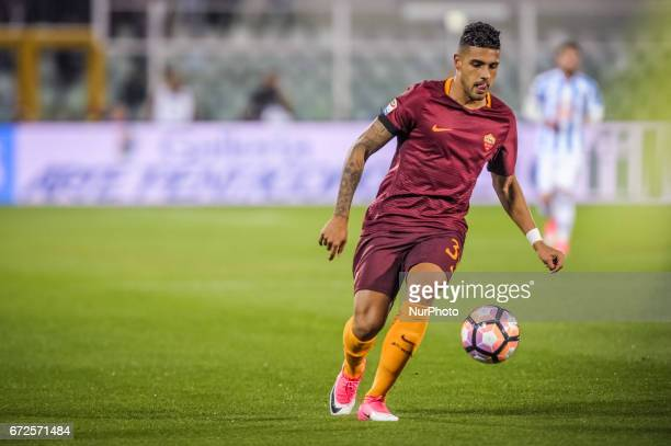 Emerson Palmieri during the Italian Serie A football match Pescara vs Roma on April 24 in Pescara Italy