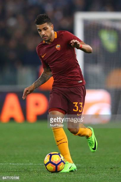 Emerson Palmieri of Roma during the Italian TIM Cup 1st leg semifinal football match on March 1 2017 at the Olympic stadium in Rome