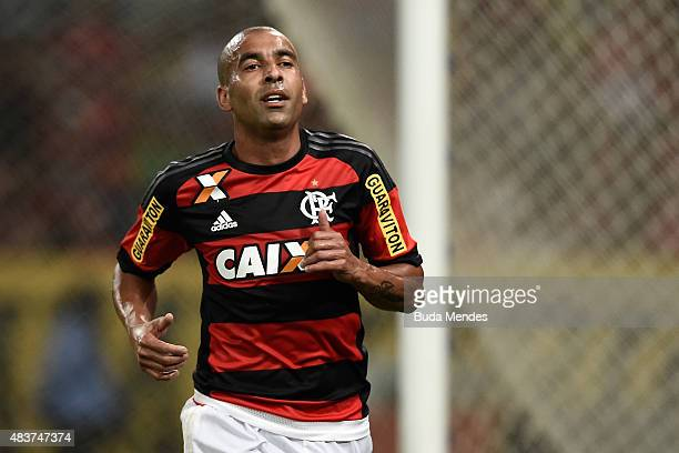 Emerson Sheik of Flamengo in action during a match between Flamengo and Atletico Paranaense as part of Brasileirao Series A 2015 at Maracana Stadium...