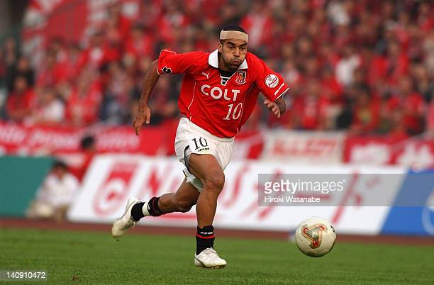 Emerson whose real name is Marcio Passos de Albuquerque of Urawa Red Diamonds in action during the JLeague match between Urawa Red Diamonds and Tokyo...