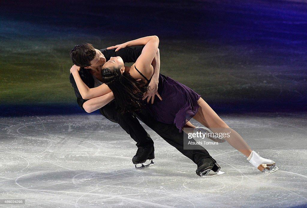 Emi Hirai and Marien De La Asuncion of Japan performs their routine in the Gala exhibition during All Japan Figure Skating Championships at Saitama Super Arena on December 24, 2013 in Saitama, Japan.